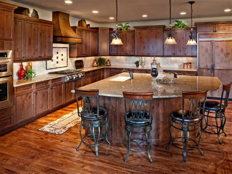 kitchen cabinet island ideas how to decorate kitchen walls pictures ideas from hgtv