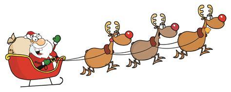 Santa Claus And Reindeer Clip Art – Happy Holidays! Free Clip Art Santa And Reindeer