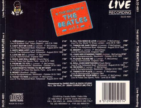 the beatles the best of the beatles the best of vol 2 live recording 1992