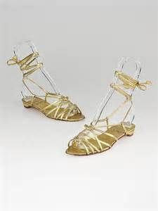 gold strappy flat sandals christian louboutin gold strappy flat sandals