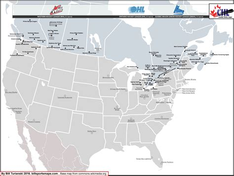 canadian hockey map ontario hockey league ohl location map with 2015 16