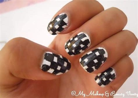 nail art checkered tutorial checkered nail art tutorial paperblog
