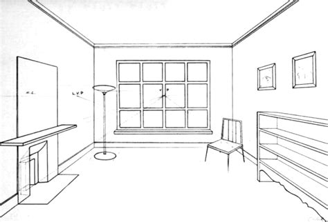 2 Point Perspective Interior Room by Perspective Drawing Of A Bedroom Myminimalist Co