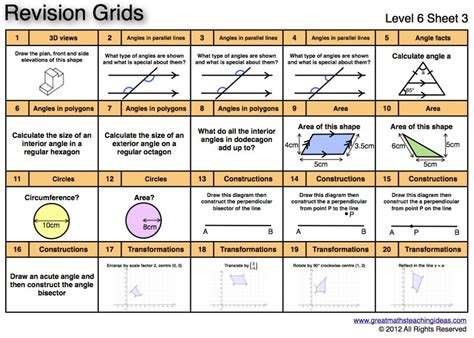 Free Year 9 Maths Revision by Year 6 Maths Revision Worksheets Popflyboys