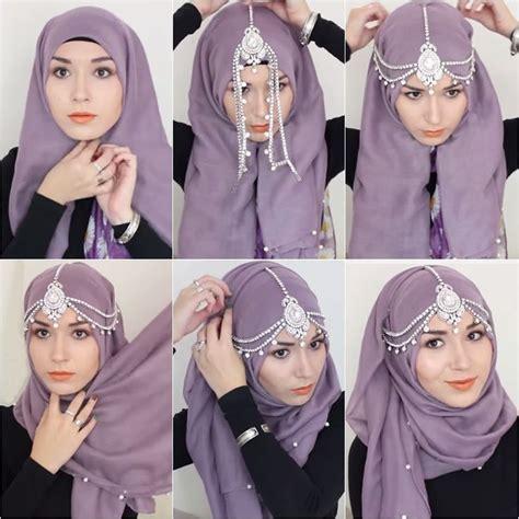 tutorial berhijab terkini cara berhijab pashmina modern dan simple fashion terkini