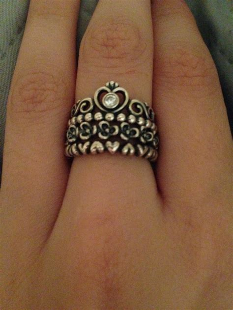 stackable pandora rings quot my princess quot quot floral elegance