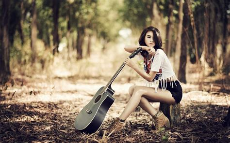 wallpaper classic girl wallpapers girl with guitar hd download