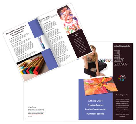 art and craft brochure templates