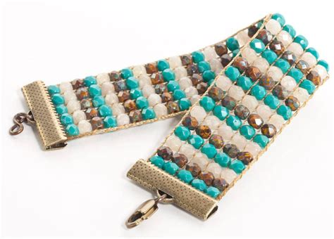 how to end a beaded bracelet selvage method of finishing loom beadwork loom bracelets