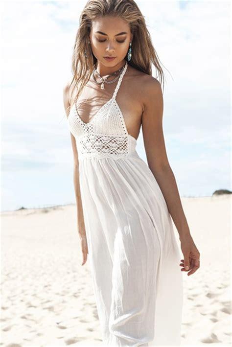 White Neck Dress 2015 summer style dress goddess white dress v neck halter dress maxi