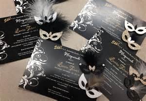 gorgeous masquerade invitations x25 masks