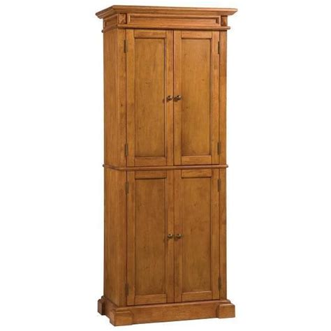 Home Depot Kitchen Storage Cabinets Home Styles Americana Pantry Storage Cabinet Distressed Oak Finish 769 99 Ebay