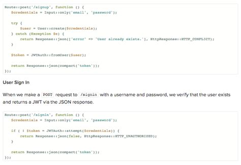 tutorial laravel cors json web token tutorial an exle in laravel and