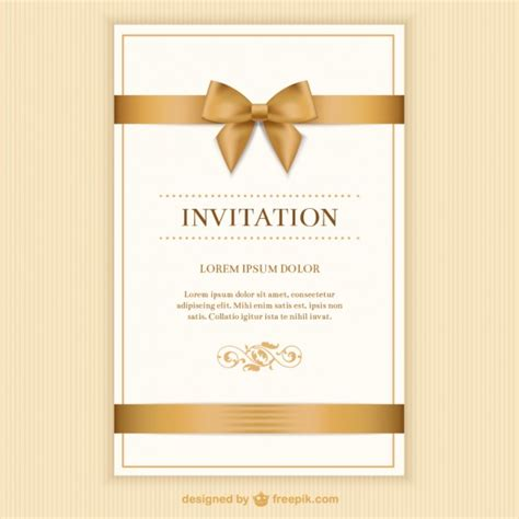 how to prepare invitation christmas card hd tarjeta de invitaci 243 n retro con una cinta descargar vectores gratis