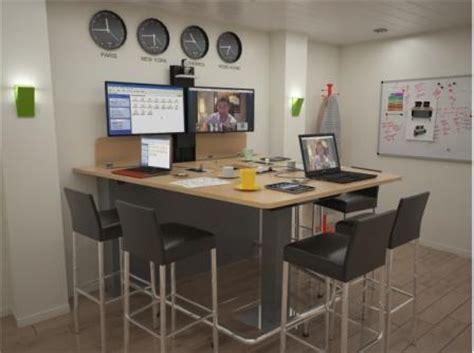 table haute 6 personnes steelnovel mobilier de visioconf 233 rence