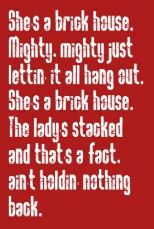 house music song lyrics brick house sing what s written pinterest