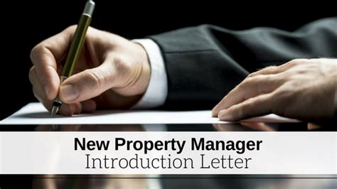 Introduction Letter New Manager new property management introduction letter docoments