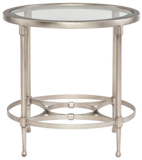 Metal Dining Table With Glass Top Bernhardt Metal End Table With Glass Top Bernhardt Hospitality