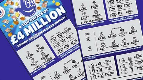 Chances Of Winning Money On Scratch Cards - 163 4 million card launched scratch cards