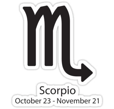 quot zodiac sign scorpio october 23 november 21 quot stickers by