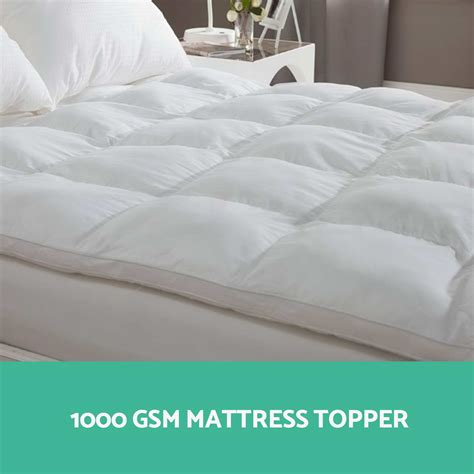 pillow topper for bed 1000gsm mattress topper pillowtop goose down pillow bed
