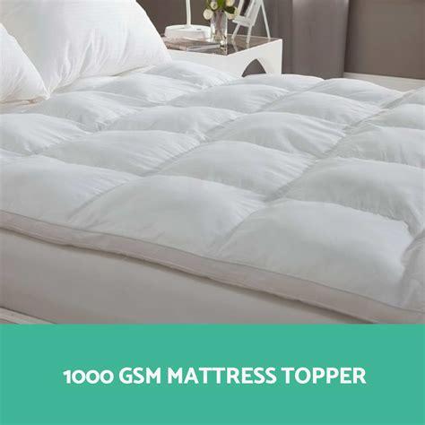 pillow bed topper 1000gsm mattress topper pillowtop goose down pillow bed