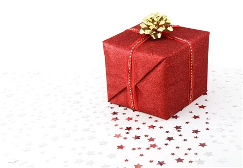 christmas gift file red christmas present on white background jpg