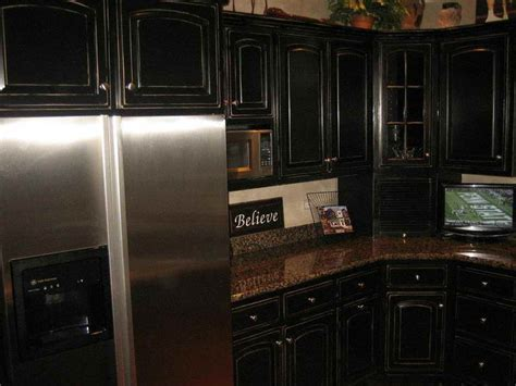 Kitchen Tags Black Painted Kitchen Cabinets Black Painted Black Kitchen Cabinets