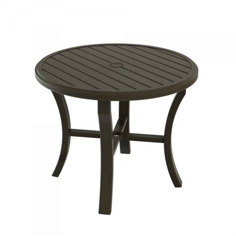 tropitone banchetto 36 quot dining table leisure living