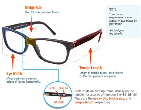 choose best eyeglass frames by using frame measurements