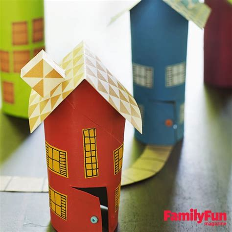 Easy Arts And Crafts With Paper - town transform cardboard into cottages in
