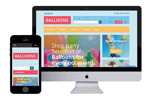 Balloons Free Responsive Opencart Theme Opencart Templates Free