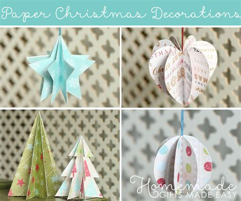 easy to make christmas decorations at home paper christmas decorations