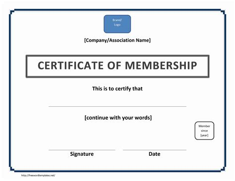 template for membership cards certificate of membership