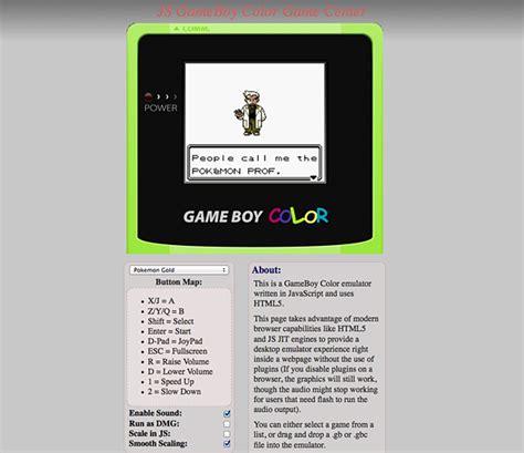 emulateur gameboy color en html5 javascript arfy z
