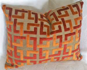 Orange Pillows For Sofa Orange Throw Pillow Contemporary Geometric By Pillowthrowdecor