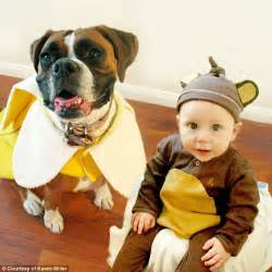 henry s free puppies boy and his pet coordinate their costumes every year daily mail