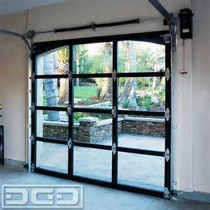 Full View Glass & Metal Garage Doors for a Spanish Residence in La Habra Heights   Eclectic
