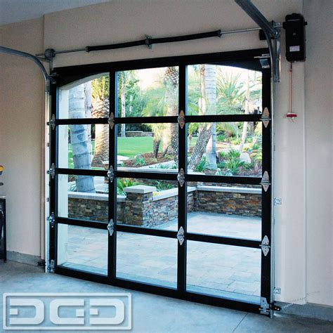 Glass Overhead Door with View Glass Metal Garage Doors For A Residence In La Habra Heights Eclectic