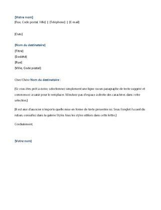 Lettre De Motivation Stage Word en t 234 te de lettre moderne office templates