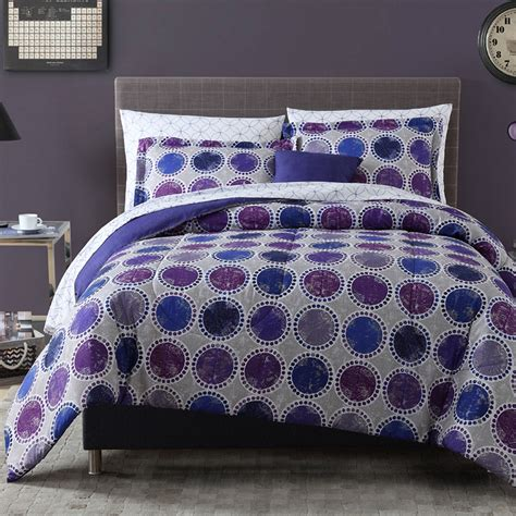 essential home complete bed set purple distress home