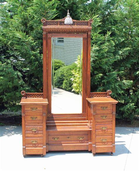 light oak dresser with mirror stunning carved oak victorian cheval mirror dresser vanity
