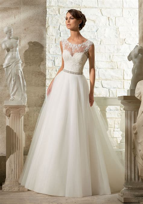 Dress Wedding by Lace Appliques On Soft Tulle Morilee Wedding Dress Style