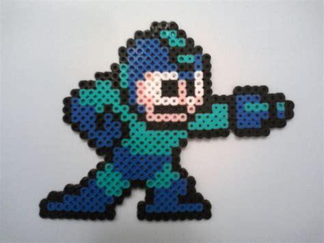 fuse bead megaman by probonobear on deviantart