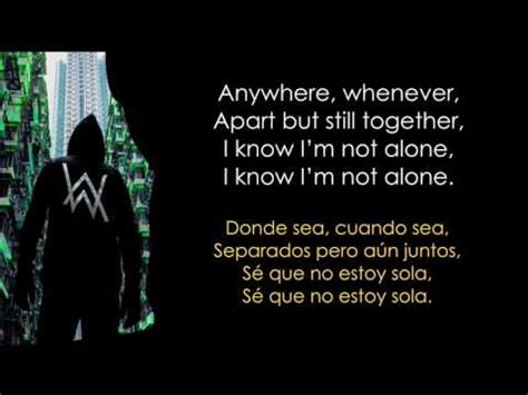 alan walker lyrics alan walker alone lyrics espa 241 ol ingl 233 s youtube