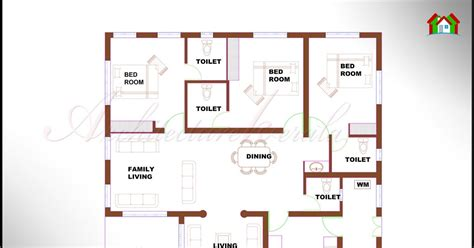 design house floor plans architecture kerala 3 bhk single floor kerala house plan