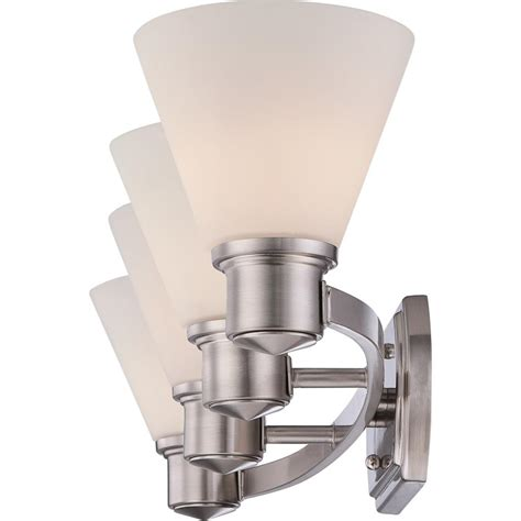 Brushed Nickel Bathroom Light Fixtures Quoizel Ayr8604bn Ayers With Brushed Nickel Finish Bath Fixture And 4 Lights Silver