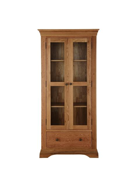 Ready Made Cabinet Doors Woolworths Constance Ready Assembled Solid Oak Display Cabinet Oak Special Savings Today At