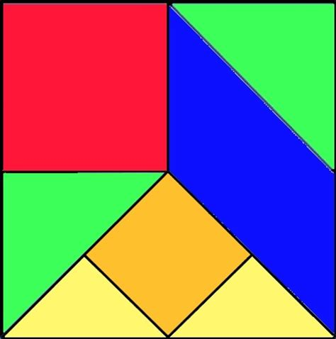 tangram cuadrado tangram y matematicas