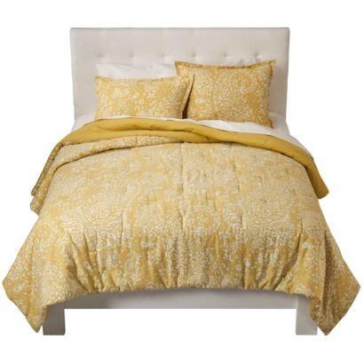 target yellow comforter threshold paisley comforter set yellow